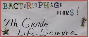 7th Grade Life Science Class Studies Bacteriophage
