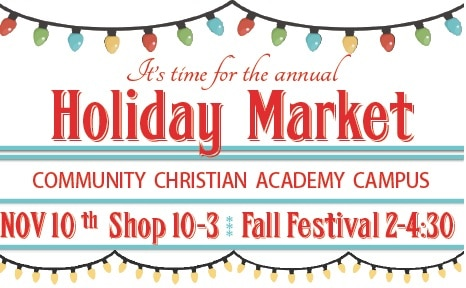 Come Join Us at CCA's Holiday Market November 10!