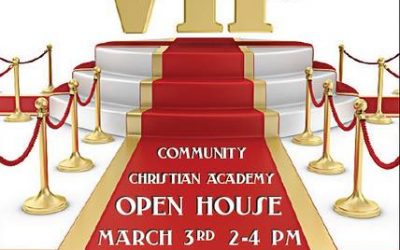 CCA Open House March 3rd  2-4 pm