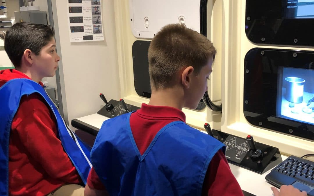6th Grade Science Class Visits the Challenger Learning Center